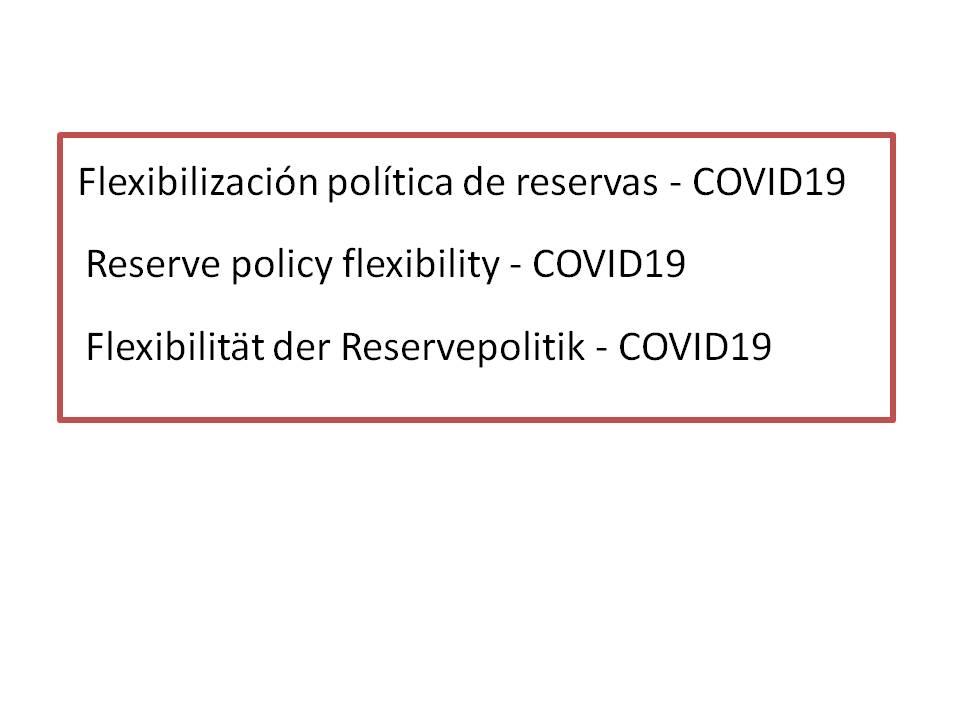 politica reservas especiales